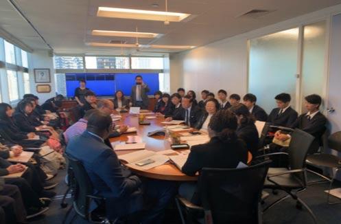 星槎高校ニューヨーク海外研修プログラム 会議風景