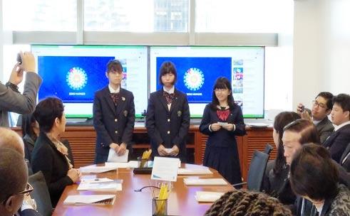 星槎高校ニューヨーク海外研修プログラム SDG'sの取り組みを発表